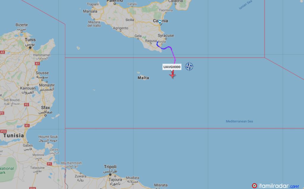 إيتاميل رادار: طائرة دون طيار تابعة لحلف الناتو في مهمة استطلاعية قبالة ليبيا